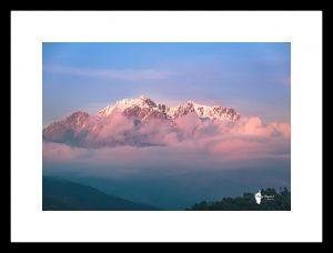 Le Monte d'Oro avec cadre baguette noire satinée en 60cm x 90cm